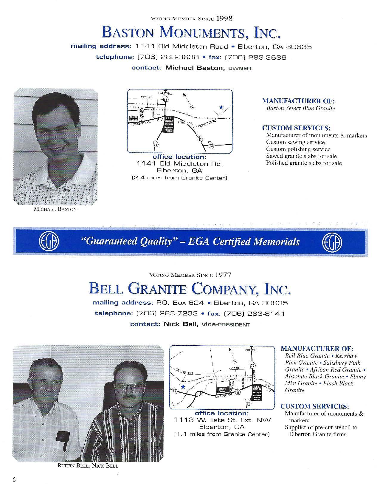 FALL 2000 GRANITEER | EGA Online